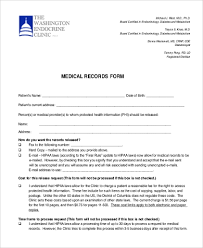 Hipaa Request Form Sample Medical Records Request Form 9 Free Documents In Pdf
