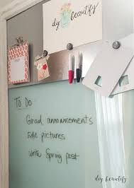 How To Make A Magnetic Memo Board Delectable Dry Erase Magnetic Memo Board From An Old Picture DIY Beautify