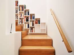 book storage in around stairs