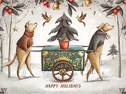 Retro Holidays Vintage Holidays Christmas Dogs By Graphics Collection Dribbble