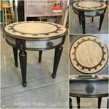 paint effects for furniture. steampunk table with bronze pearl effects paint for furniture t