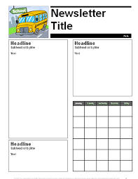 Education Newsletter Templates August September Parent Newsletter Template Education World