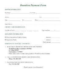 Fundraiser Pledge Form Template Silent Auction Donation Form Template Sample Donation Pledge Form