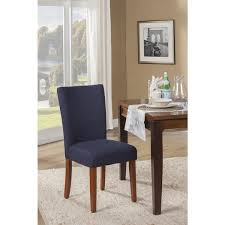 homepop navy blue textured parson dining chair set of 2
