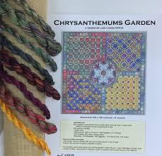 Caron Watercolours Chart Lois Caron Chrysanthemums Garden Chart