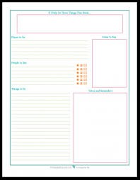 Weekly To Do Calendar Template Personal Planner Free Printables