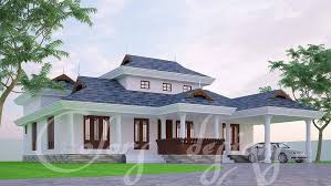 1500 square feet 4 bedroom single floor nalukettu model home design and plan