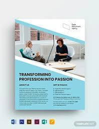 Recruitment Brochure Template 16 Recruitment Flyer Templates Word Ai Psd Eps Vector
