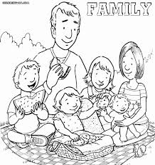 family coloring page