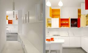 paint bright colors inside your white kitchen cabinets