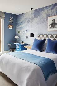 Designed Bedrooms Best Blue Bedroom With Cloud Mural Family By Erika R Pinterest Blue