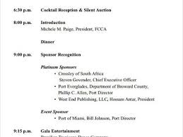 silent auction program template sample event program templatexample unicloud pl