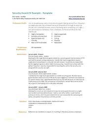 Security Guard Resume Security Guard Resume Examples Security Resume