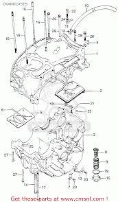Honda xl175 k0 1973 usa crankcases schematic partsfiche