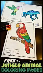 More 100 images of different animals for children's creativity. Free Jungle Animal Coloring Pages