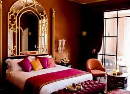 Moroccan Bedroom Furniture Bedroom Moroccan Style Beds With Handcarved Wooden Interior