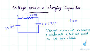 splendid derivation for voltage across a charging capacitor merofice and discharging equation full size