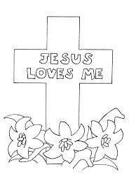 Cross Coloring Pages Jesus Loves Me Coloringstar