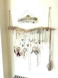earring holder target necklace wall hanger driftwood jewelry organizer wall hanging necklace holder bracelet hanger earring