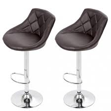 details about bar stool adjustable height leather bar stools with seat back pad set of 2 b52