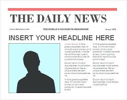 Newspaper Article Word Template Images Blank Newspaper Template Word Document Newsletter