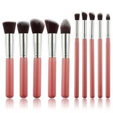 10pcs set kwasten makeup brushes set kit kabuki cosmetics loose powder blusher nasal shadow liner brushes blending blush in eye shadow applicator from