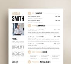 Mid Century Modern Resume Template Creative Business Resume Nguonhangthoitrang Net