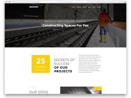 Modern Website Templates Mesmerizing 28 Best Free Construction Website Templates For Modern Builders 28