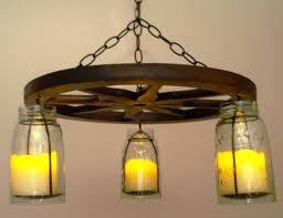 wagon wheel light fixtures hanging mason jar wagon wheel chandelier wireless diy wagon wheel light fixture
