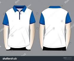 Blue Polo Shirt Design Polo Shirt Design White Blue Zipper Stock Vector Royalty