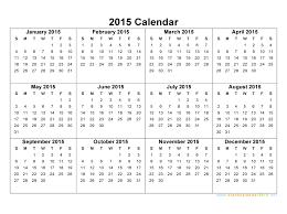 Blank Calendar 2015 Free Download Yearly Calendar Template