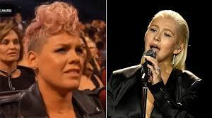 Pink Praises Christina Aguilera After AMAs Cameras Catch Her ...