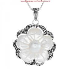 las shipton and co silver and mother of pearl pendant including a 16 silver chain tld006pm 416