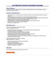 Automotive Engineer Resumes Automotive Design Engineer Resume Great Sample Resume
