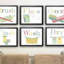 kids bathroom wall decor. Fun Bathroom Art; Children\u0027s Wall Kids Decor M