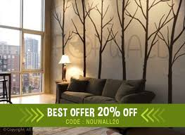 zoom on self adhesive wall art stickers with wall decal winter tree wall decal living room bedroom wall