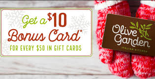 50 in gift cards during the holidays and receive 10 in bonus cards