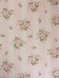 1950's Vintage Wallpaper Pink Roses on ...