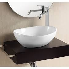 bathroom sink caracalla ca4047 oval white ceramic vessel bathroom sink