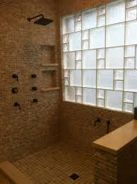 Glass Block Shower Partition Walls Curveds Tile And Flooring