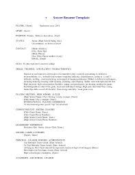 Soccer Resume Samples