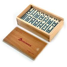 classic dominoes set of 55 domino double nines in a wooden box