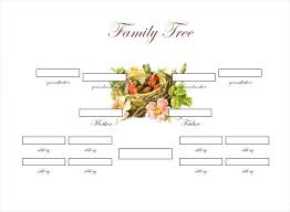 Free Editable Family Tree Template Family Tree Maker Free Template Format With Siblings Blank