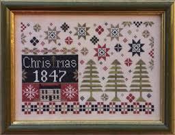 Christmas Cross Stitch Charts Coverlet Christmas Cross Stitch Chart