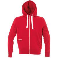 <b>Толстовка мужская Hooded Full</b> Zip красная с логотипом — купить ...