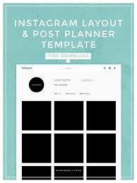 Excel Slice Theme Instagram Layout Post Planner Template Social Media Tips