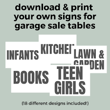 Free Yard Sale Signs Garage Sale With Free Printable May Do It List A