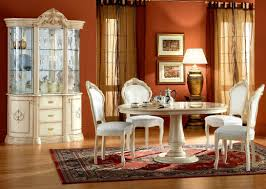 4 Piece Dining Room Sets Aged Formal Dining Room Sets Design Featuring Glass Round Top
