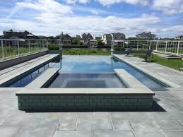 Negative edge pools Faux Spillover Spa Negative Edge Pool Patricks Pools Spillover Spa Negative Edge In East Quogue Patricks Pools Long