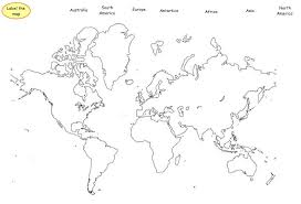 Best Photos of Printable Continents Templates To Cut Out - Seven ...
